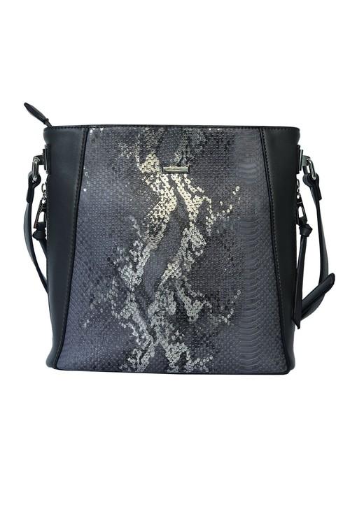 Gionni Pewter Python Texture Handbag