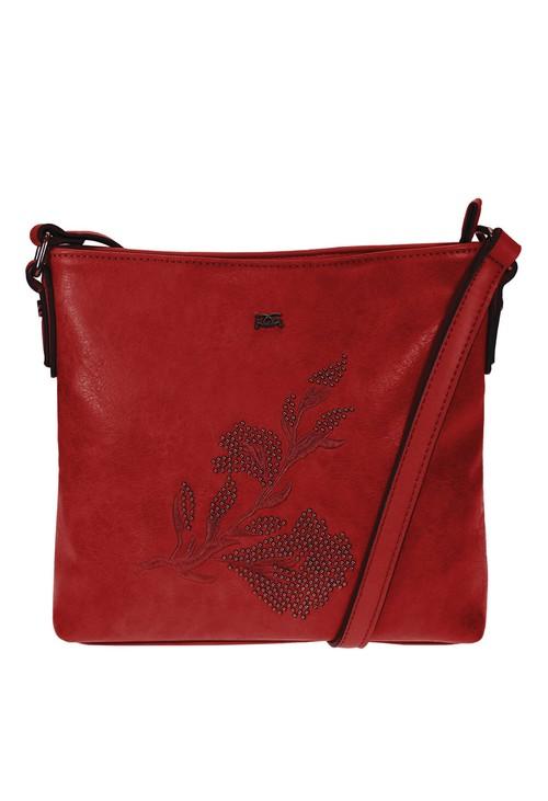 Gionni Red Embroidery Handbag