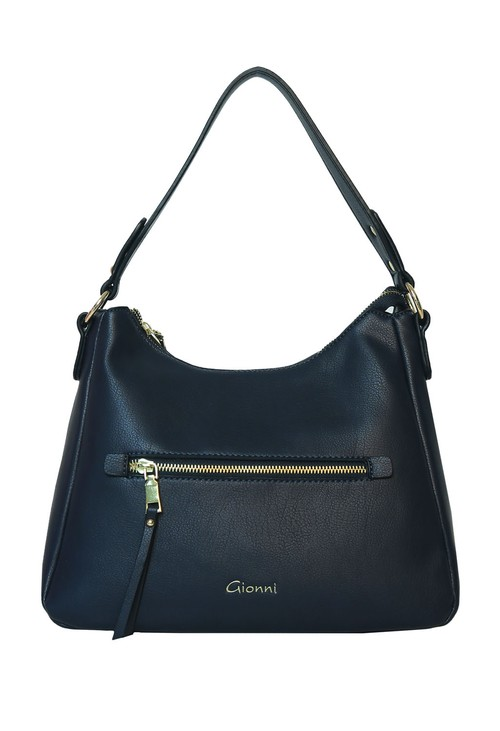 Gionni Navy Top Handle Bag