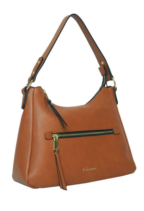 Gionni Tan Top Handle Bag