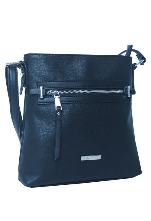 Hampton Navy Zip X-Body Bag
