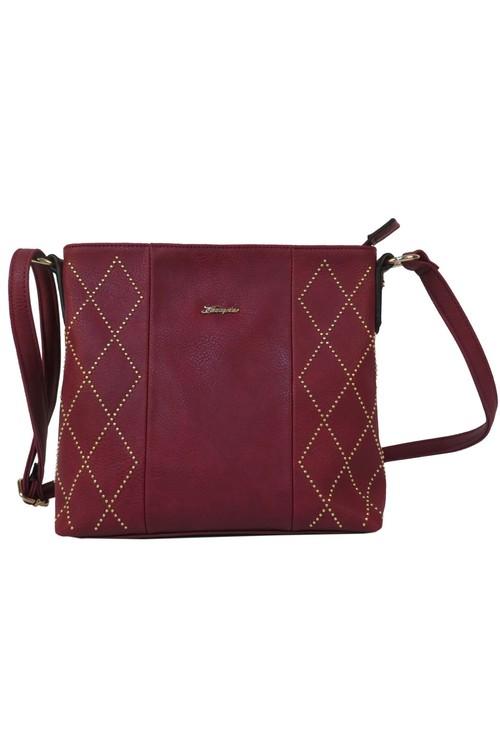 Hampton Red Studded Detail Handbag