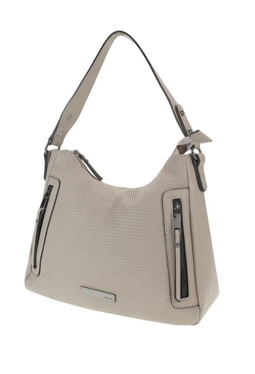 Hampton Beige Zip Front Handbag