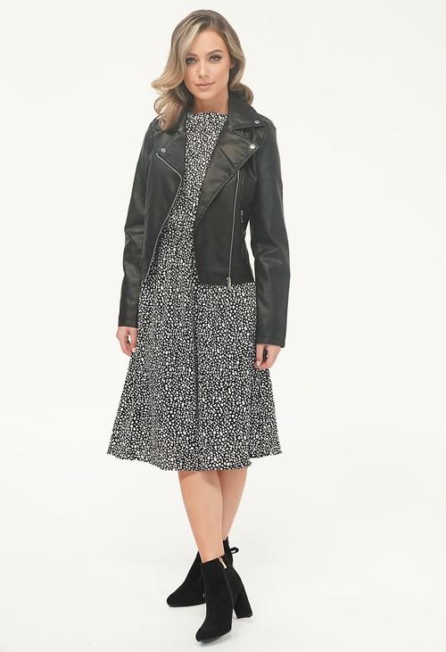 Pamela Scott Black Biker Jacket