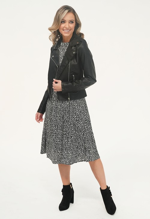 Pamela Scott Black Biker Jacket