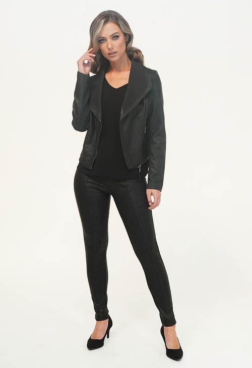 Pamela Scott Black Leatherette Jacket