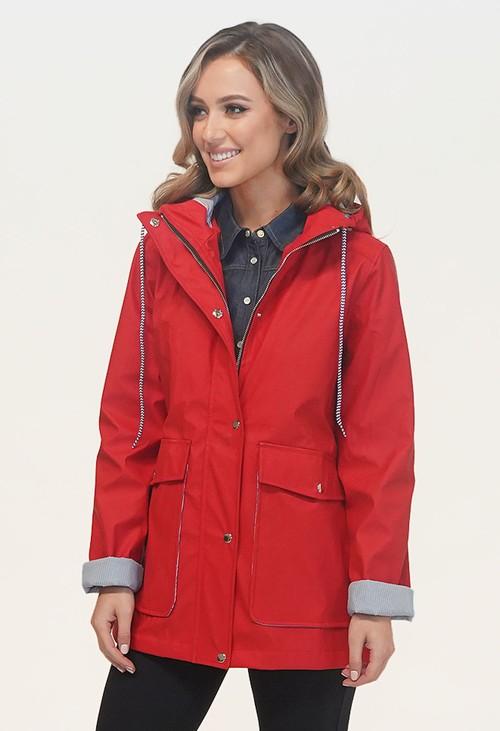 Pamela Scott Red Rain Coat