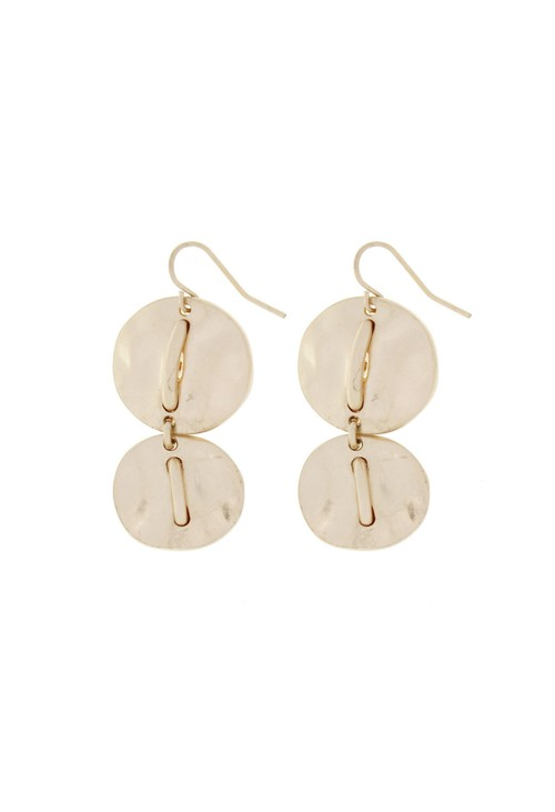 Something Special GLIMMER POLISHED DISC STATEMENT EARRING