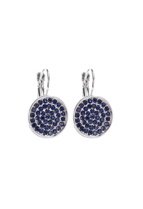 Something Special MIDNIGHT MIST PAVE DISC EARRING