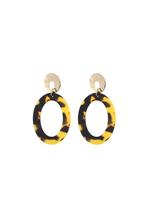 Something Special AMBIENT AMBER TORTISHELL HOOPS