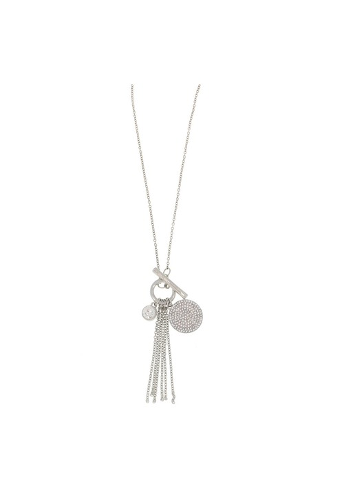 Something Special CRYSTALLINE CHARM TASSEL PENDANT