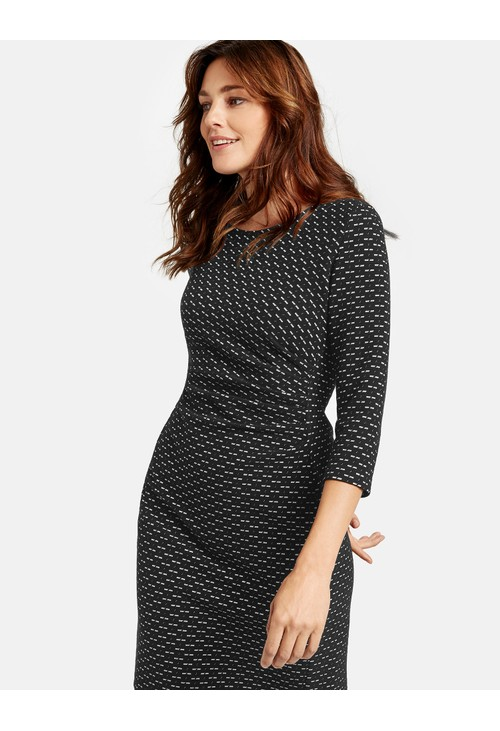 Gerry Weber Ecru Minimalist Pattern Dress