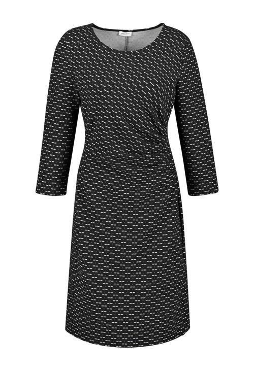 Gerry Weber Ecru Minimalist Pattern Dress
