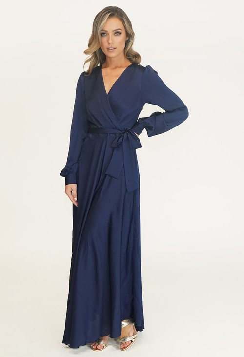 Pamela Scott MARINE TIE WAIST LOVITA DRESS