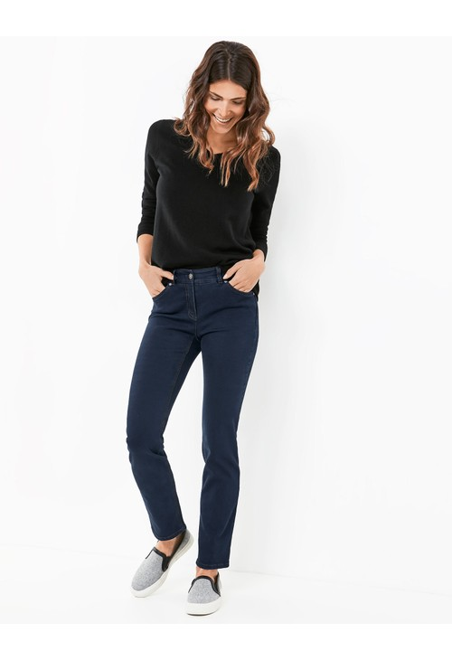 Gerry Weber Dark Blue Best4me Figure-shaping Trousers