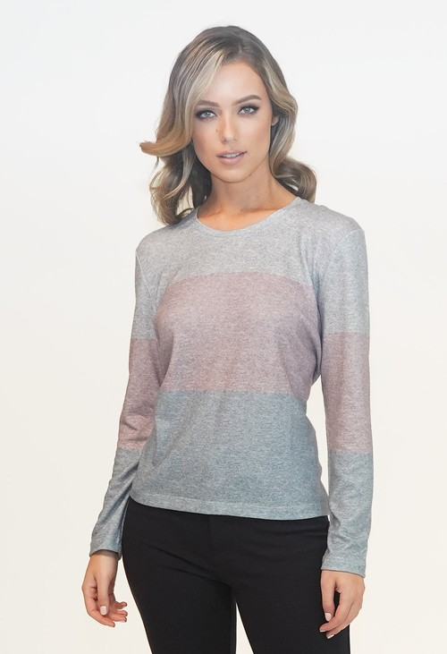 Twist Grey Stripe Top