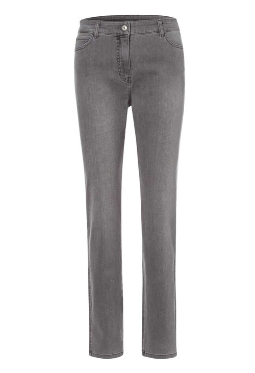 Olsen Grey Mona Slim Diamante Detail Jeans