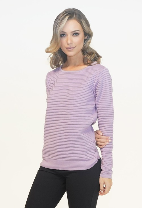 Twist Lavendar Rib Detail Knit Jumper