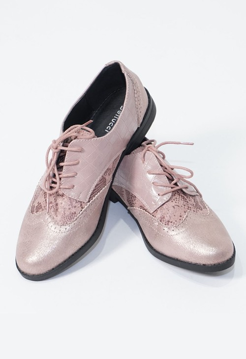 Pamela Scott Pink Laced Semi- Brogues