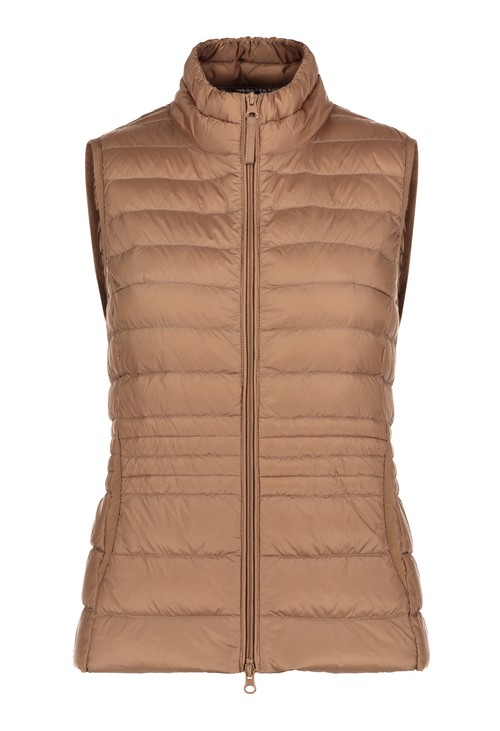 Betty Barclay Golden Carmel Padded Gilet Coat
