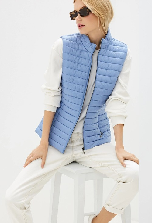 Gerry Weber Blue Quilted Gilet