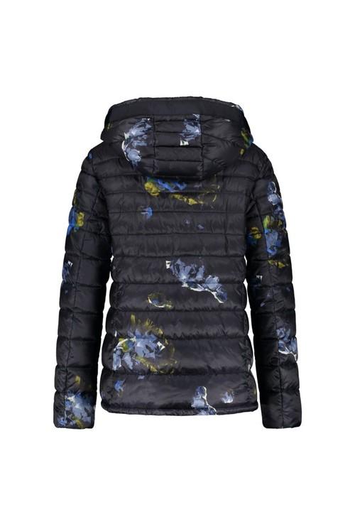 Gerry Weber Navy Print Hooded Jacket