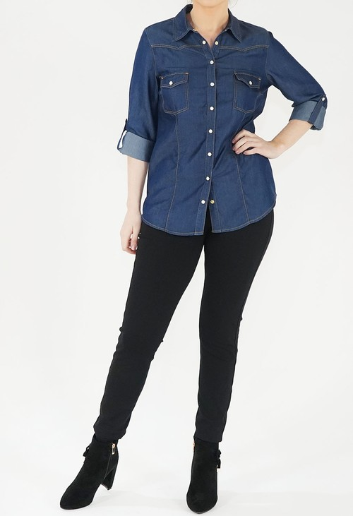Twist Blue Denim Shirt