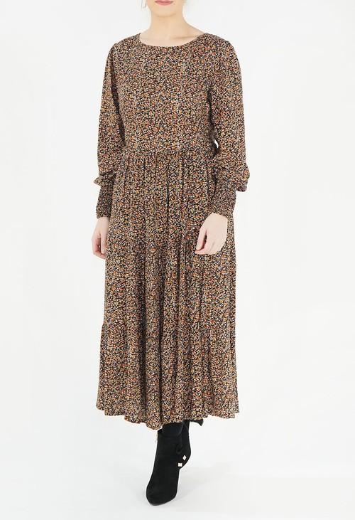 Zapara Floral Print Dress
