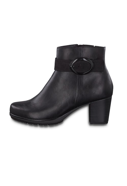 Jana Side Buckle Black Boot