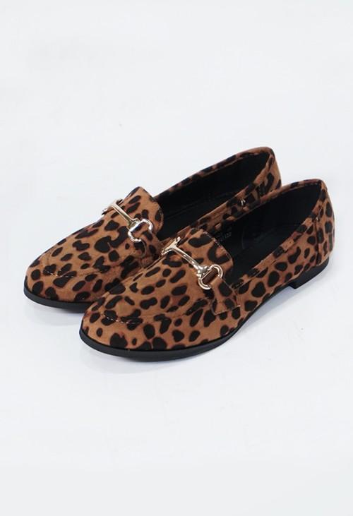 Pamela Scott Croc Print Slip On Loafer