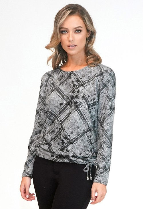 Sophie B Abstract Check Top