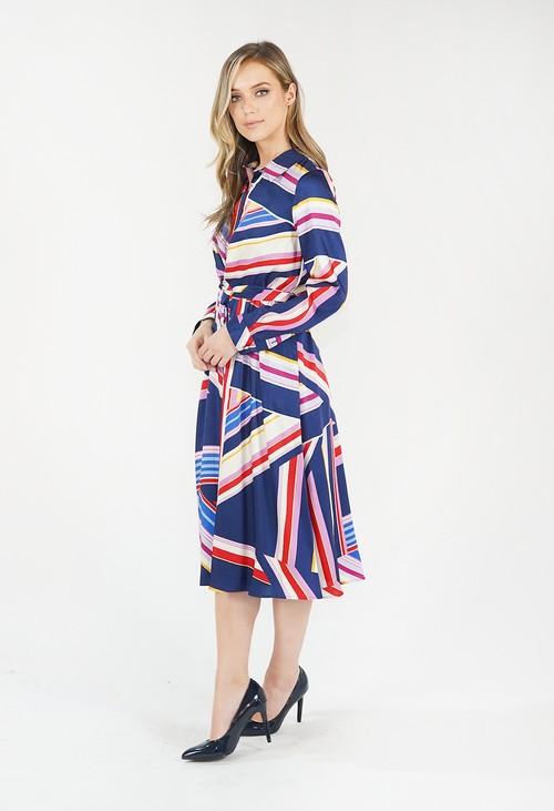 Julia Jord Multicoloured Striped Shirt Dress