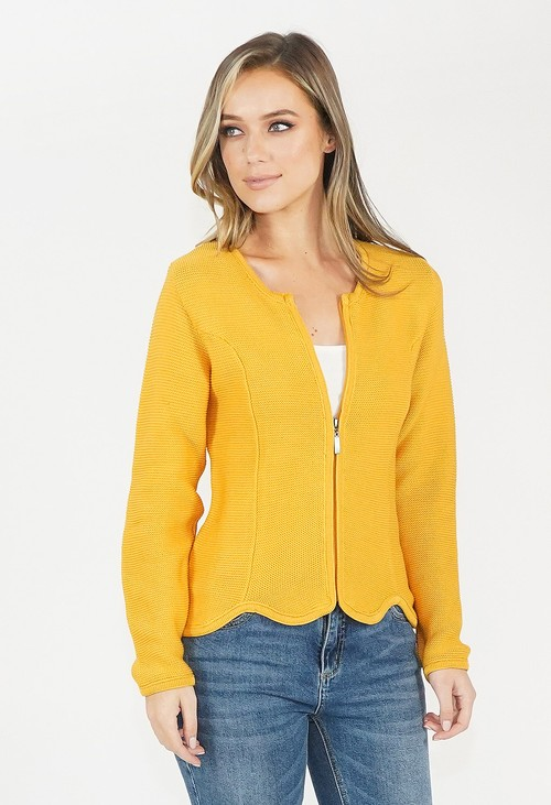 Twist Honey Zip Knit