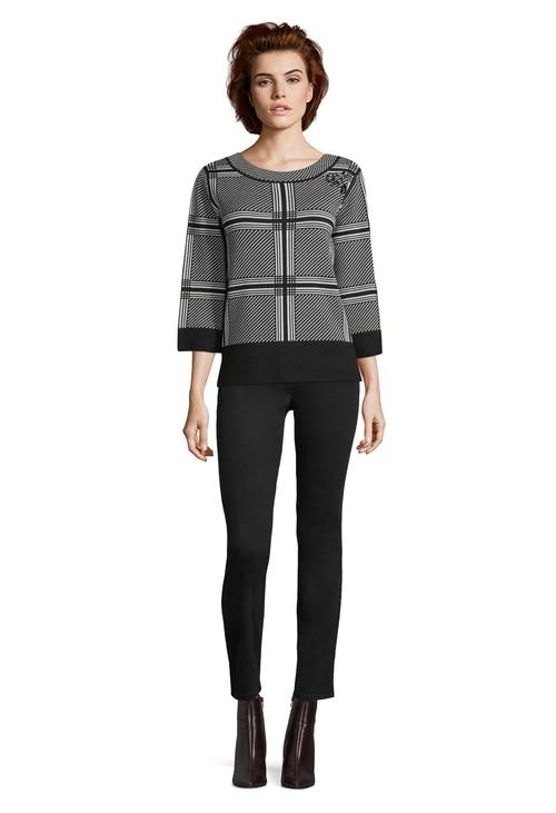 Betty Barclay Black & White fine knit sweater