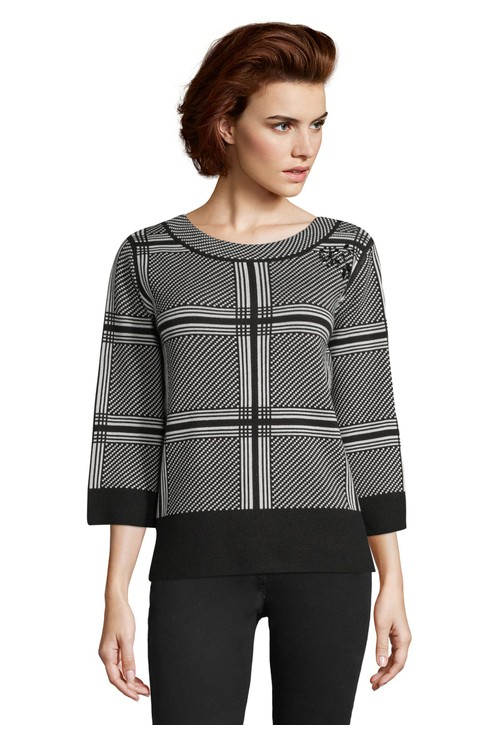 Betty Barclay Black & White fine knit sweater