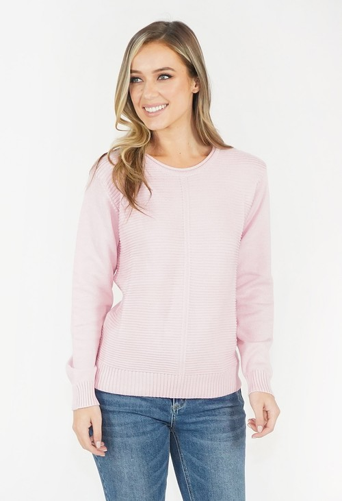 Twist Soft  Rose Round Neck Knit