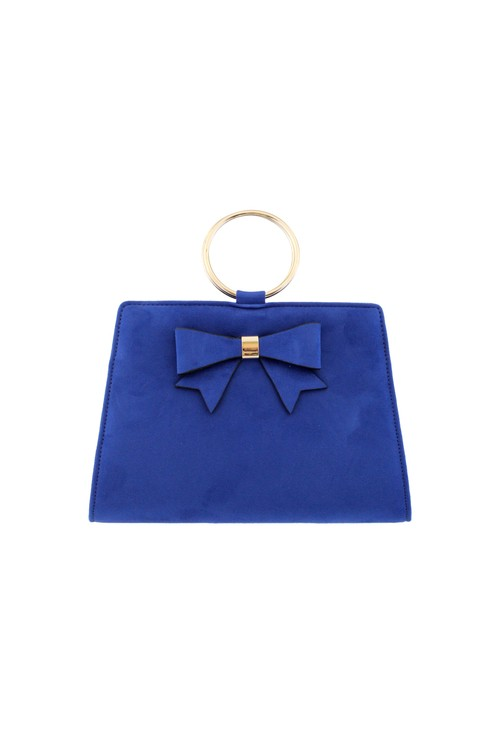 Barino Blue Microfibre Clutch Bag