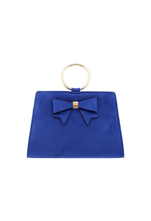 Barino Blue Microfibre Clutch Bag