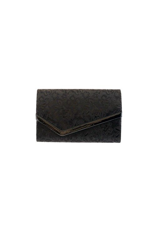 Barino Black Metallic Clutch Bag