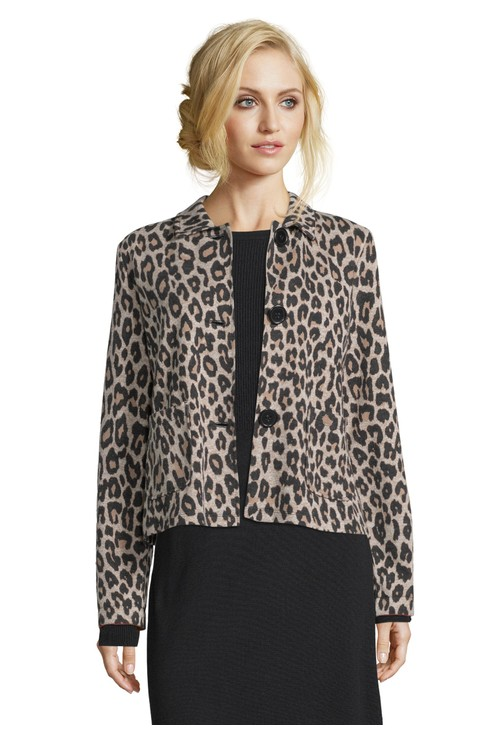 Betty Barclay Leopard Print Shirt Jacket