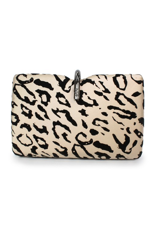 Lunar Leopard Print Clutch Bag