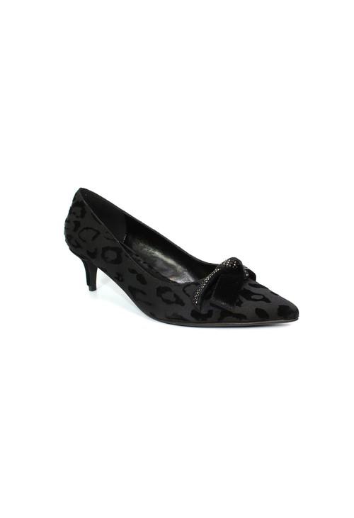 Lunar Black Kitten Heel Court