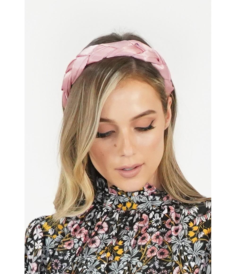 Pamela Scott Pink Satin Headband