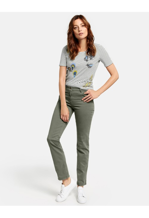Gerry Weber Agave Green Straight Fit Romy Jeans