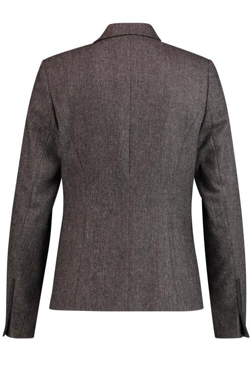 Gerry Weber Ecru & Black Herringbone Pattern Jacket