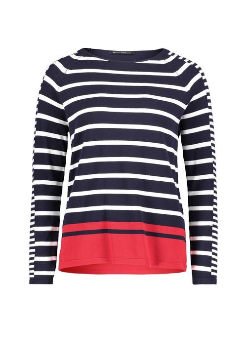 Betty Barclay Stripe Pattern Fine Knit Sweater