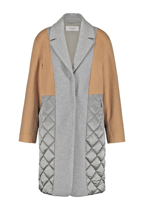 Gerry Weber Grey Wool and Quilted Coat