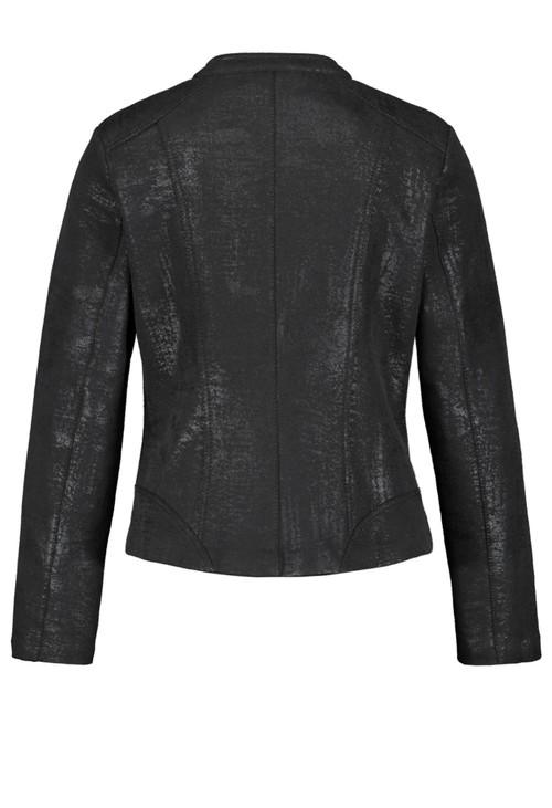Gerry Weber Black Shimmer Vintage Look Biker Jacket