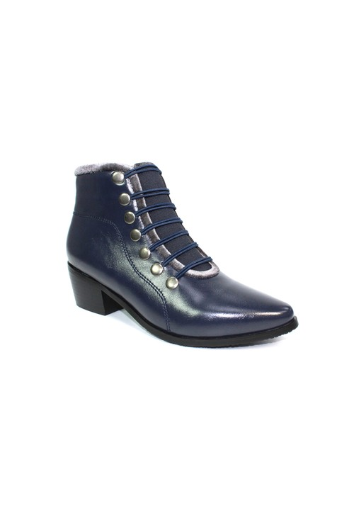 Lunar Navy Pixie Style Ankle Boot