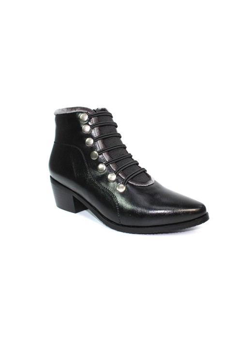 Lunar Black Pixie Style Ankle Boot